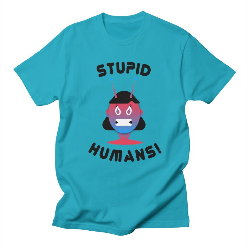 Stupid Humans! Men's Regular T-Shirt by ashleysladeart's Artist Shop