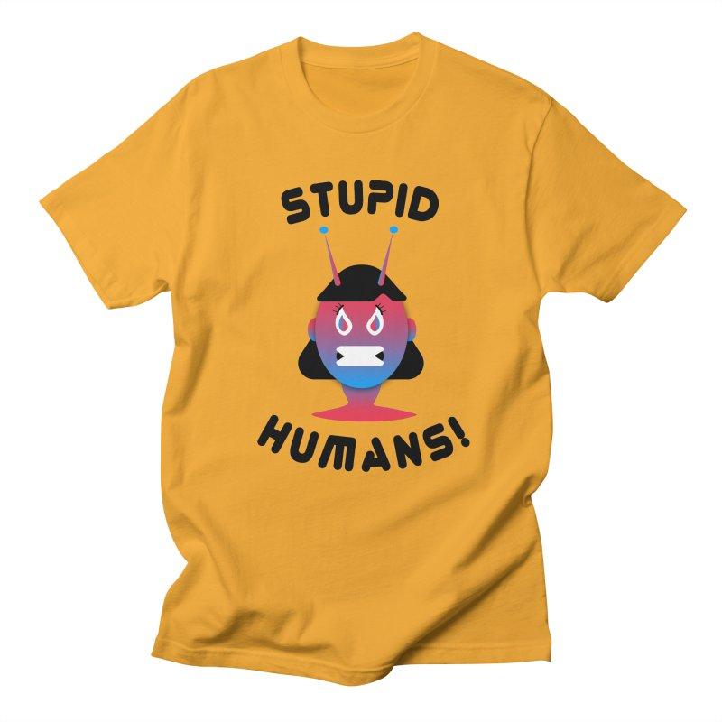 Stupid Humans! Men's Regular T-Shirt by ashleysladeart's Artist Shop