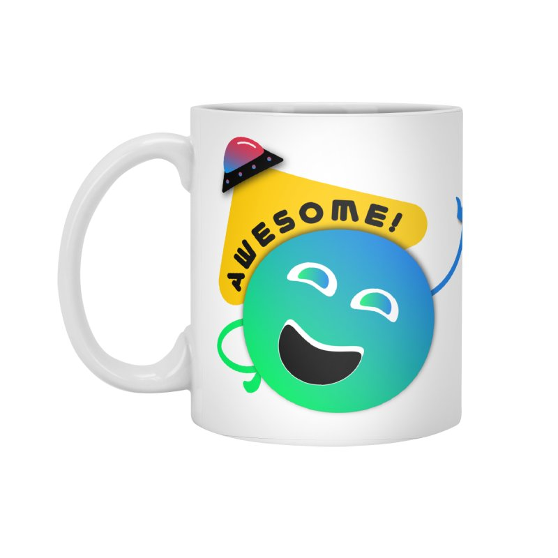 Awesome Planet! Accessories Standard Mug by ashleysladeart's Artist Shop