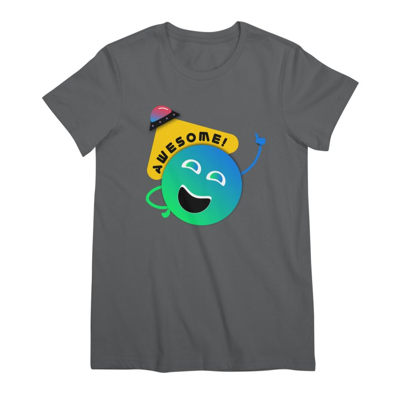 Awesome Planet! Women's Premium T-Shirt by ashleysladeart's Artist Shop