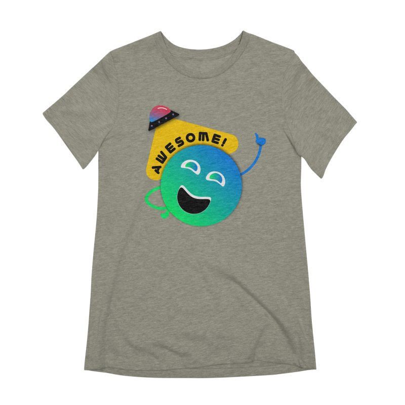 Awesome Planet! Women's Extra Soft T-Shirt by ashleysladeart's Artist Shop