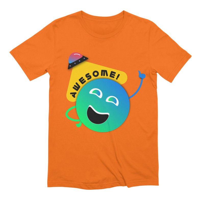 Awesome Planet! Men's Extra Soft T-Shirt by ashleysladeart's Artist Shop