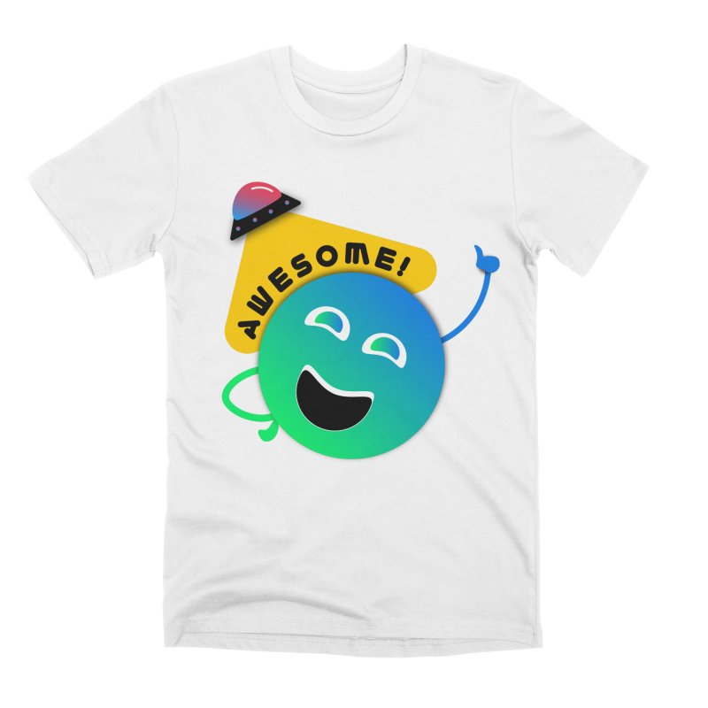 Awesome Planet! Men's Premium T-Shirt by ashleysladeart's Artist Shop