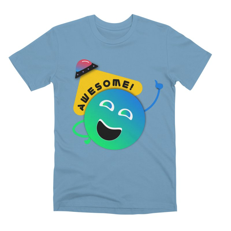 Awesome Planet! Men's Premium T-Shirt by ashleysladeart's Artist Shop
