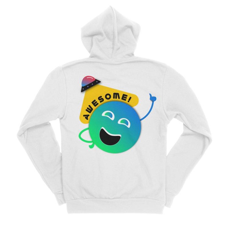 Awesome Planet! Men's Sponge Fleece Zip-Up Hoody by ashleysladeart's Artist Shop