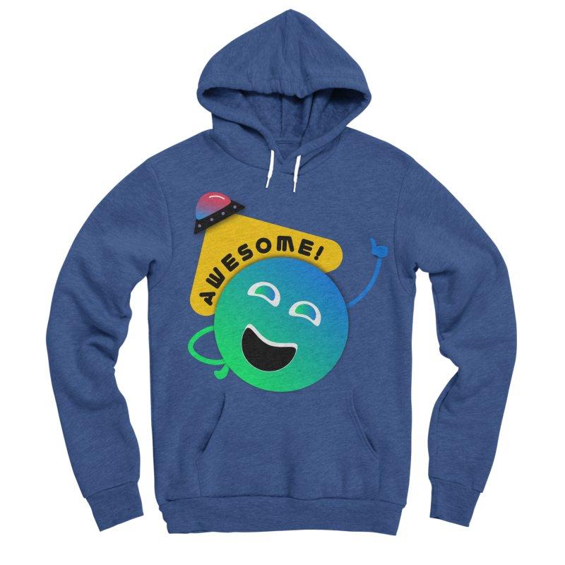 Awesome Planet! Men's Sponge Fleece Pullover Hoody by ashleysladeart's Artist Shop