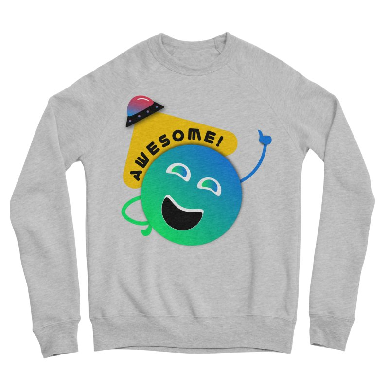 Awesome Planet! Men's Sponge Fleece Sweatshirt by ashleysladeart's Artist Shop