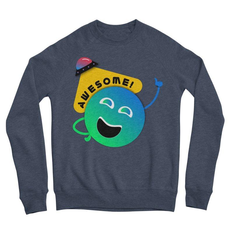 Awesome Planet! Men's Sponge Fleece Sweatshirt by ashleysladeart's Artist Shop