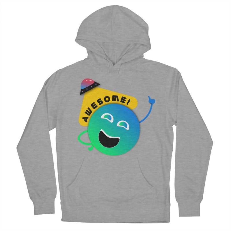 Awesome Planet! Women's French Terry Pullover Hoody by ashleysladeart's Artist Shop