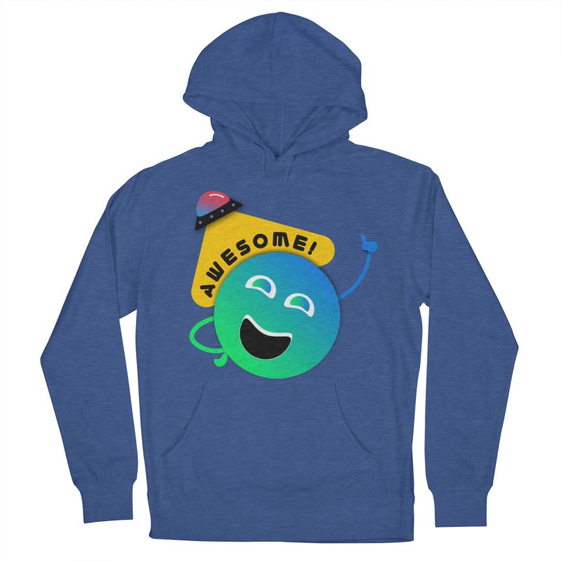 Awesome Planet! Men's French Terry Pullover Hoody by ashleysladeart's Artist Shop