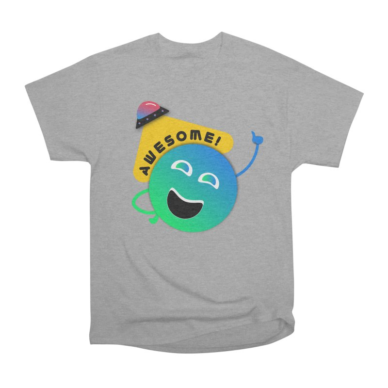 Awesome Planet! Men's Heavyweight T-Shirt by ashleysladeart's Artist Shop