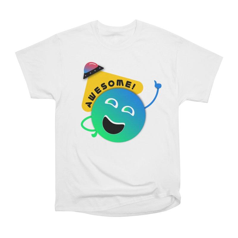 Awesome Planet! Women's Heavyweight Unisex T-Shirt by ashleysladeart's Artist Shop