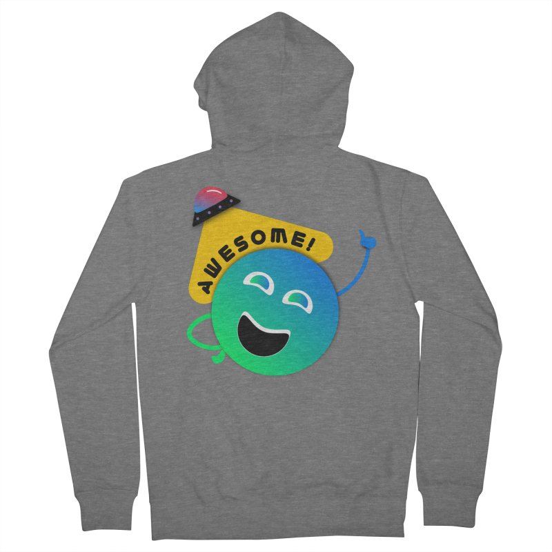 Awesome Planet! Women's French Terry Zip-Up Hoody by ashleysladeart's Artist Shop