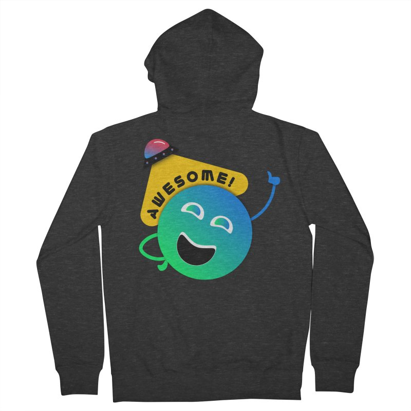 Awesome Planet! Men's French Terry Zip-Up Hoody by ashleysladeart's Artist Shop