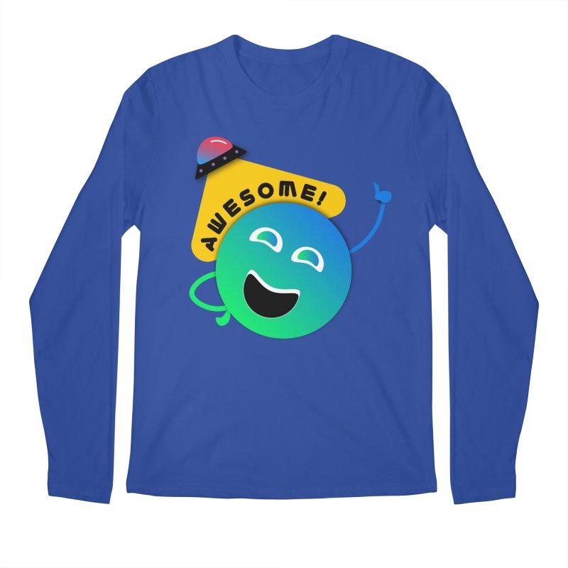 Awesome Planet! Men's Regular Longsleeve T-Shirt by ashleysladeart's Artist Shop