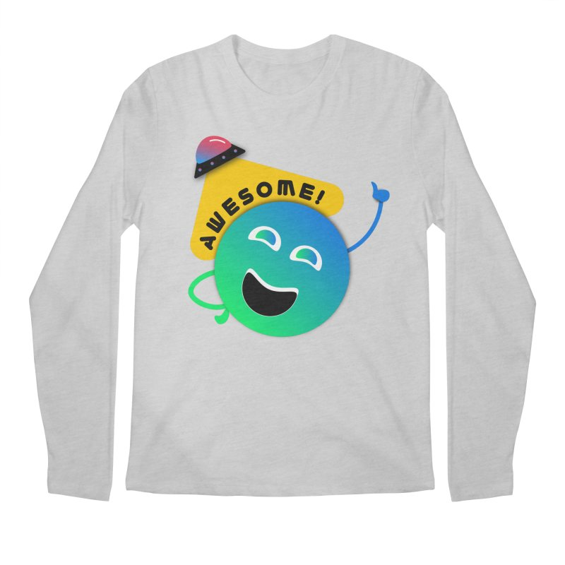 Awesome Planet! Men's Regular Longsleeve T-Shirt by ashleysladeart's Artist Shop