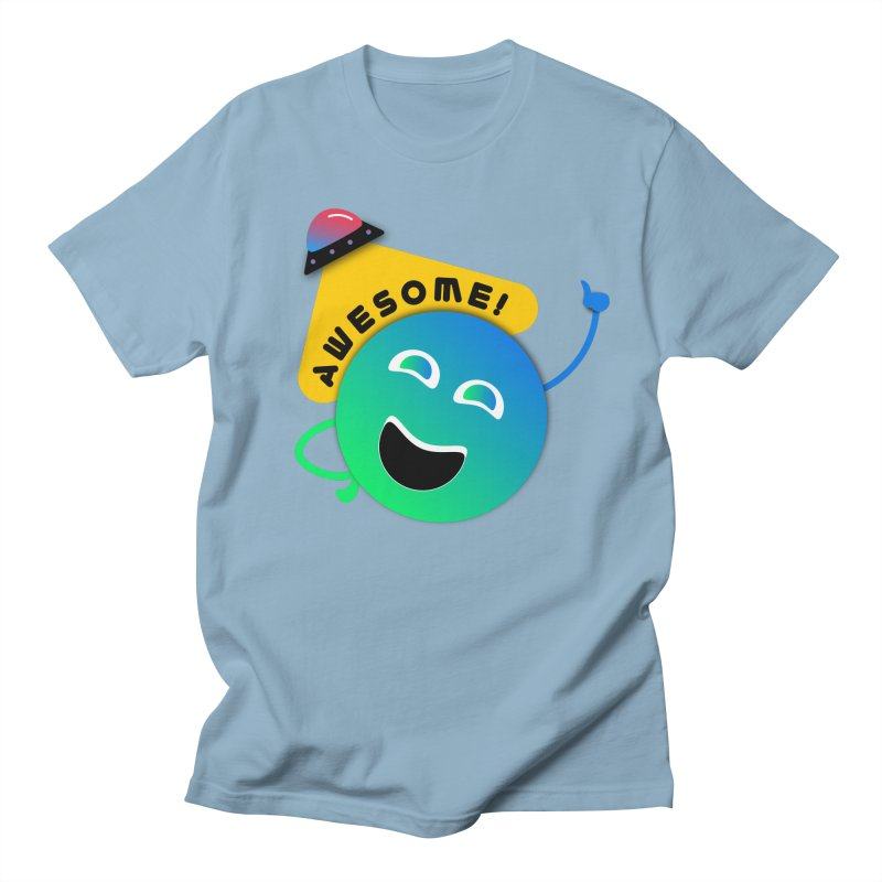 Awesome Planet! Men's T-Shirt by ashleysladeart's Artist Shop