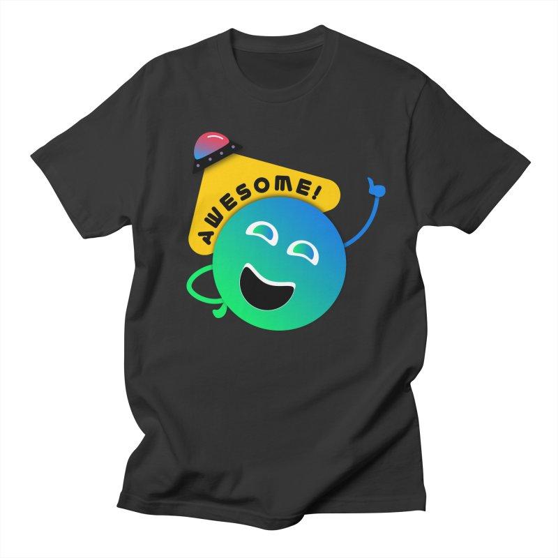 Awesome Planet! Men's Regular T-Shirt by ashleysladeart's Artist Shop