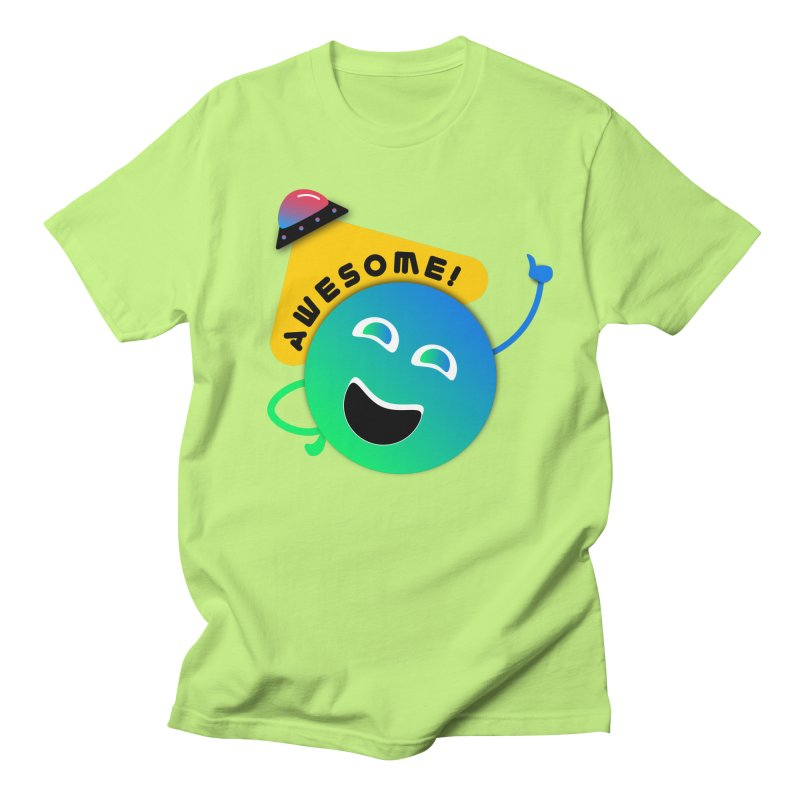Awesome Planet! Men's Regular T-Shirt by ashleysladeart's Artist Shop