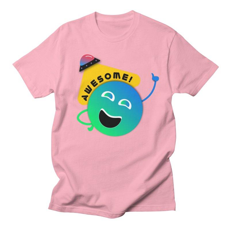 Awesome Planet! Women's Regular Unisex T-Shirt by ashleysladeart's Artist Shop