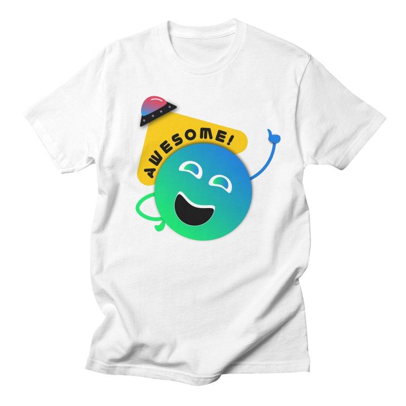 Awesome Planet! Men's T-Shirt by ashleysladeart's Artist Shop