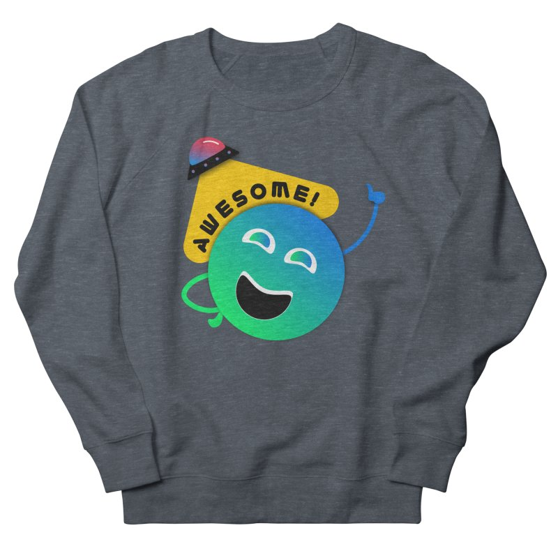 Awesome Planet! Men's French Terry Sweatshirt by ashleysladeart's Artist Shop