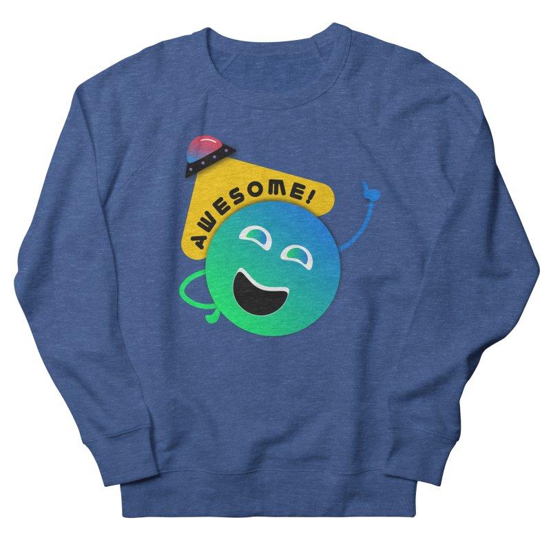 Awesome Planet! Men's Sweatshirt by ashleysladeart's Artist Shop