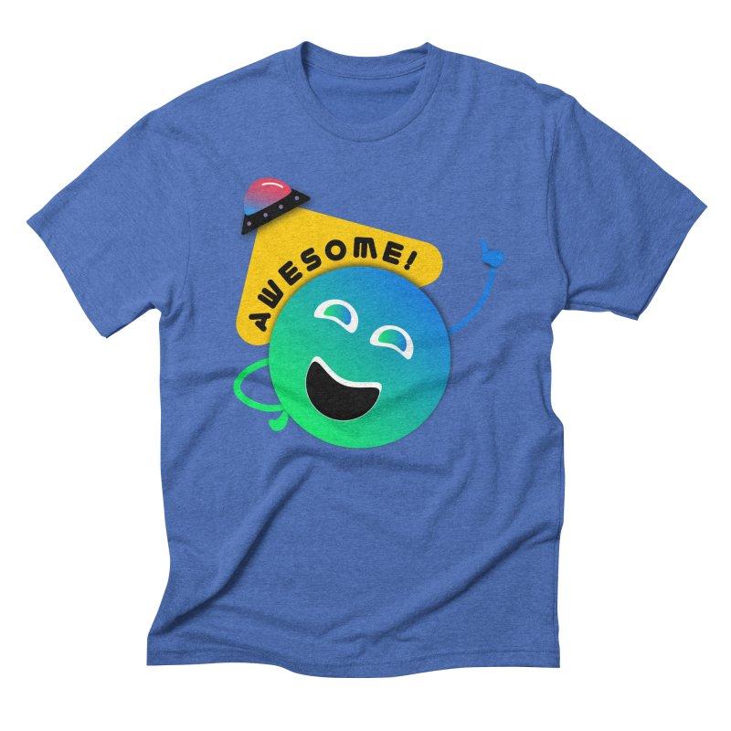 Awesome Planet! Men's Triblend T-Shirt by ashleysladeart's Artist Shop