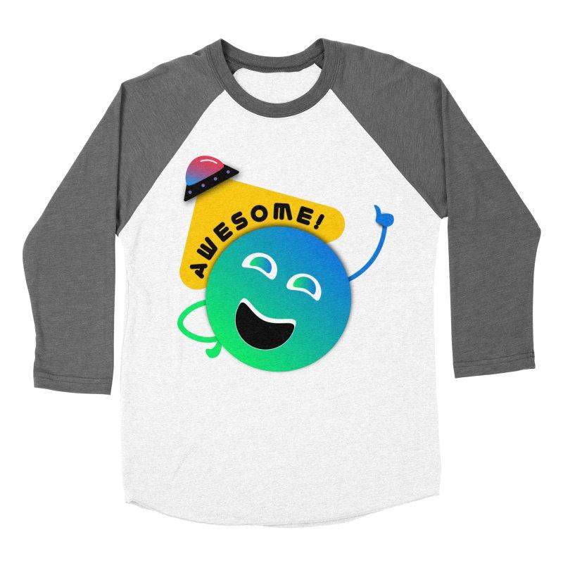 Awesome Planet! Women's Longsleeve T-Shirt by ashleysladeart's Artist Shop