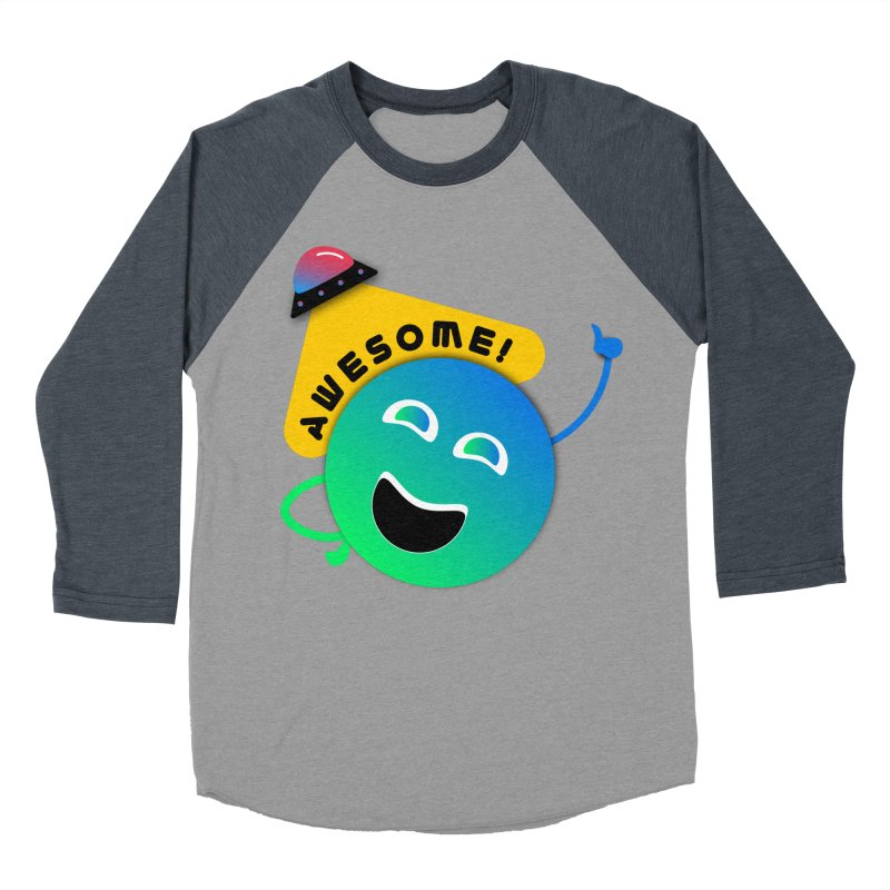 Awesome Planet! Women's Baseball Triblend Longsleeve T-Shirt by ashleysladeart's Artist Shop