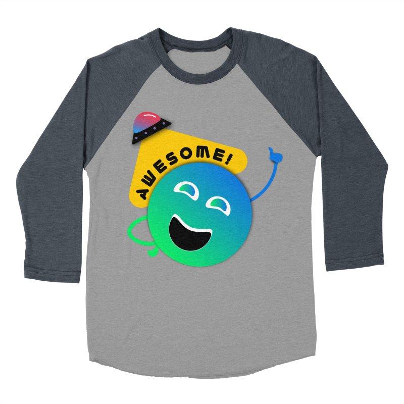 Awesome Planet! Men's Baseball Triblend Longsleeve T-Shirt by ashleysladeart's Artist Shop