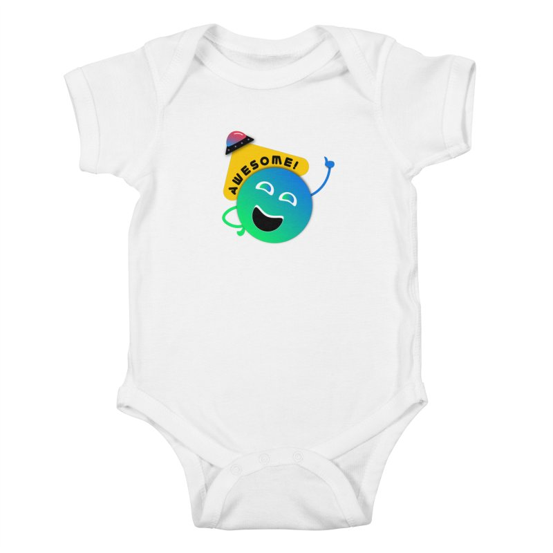 Awesome Planet! Kids Baby Bodysuit by ashleysladeart's Artist Shop