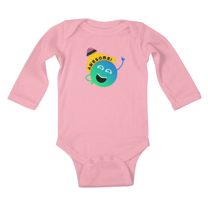 Awesome Planet! Kids Baby Longsleeve Bodysuit by ashleysladeart's Artist Shop