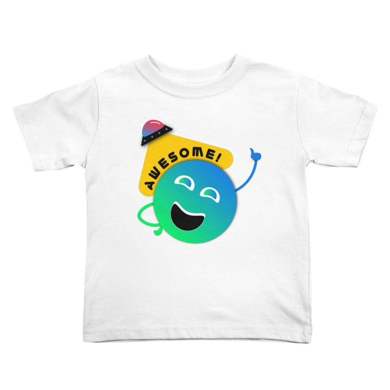 Awesome Planet! Kids Toddler T-Shirt by ashleysladeart's Artist Shop