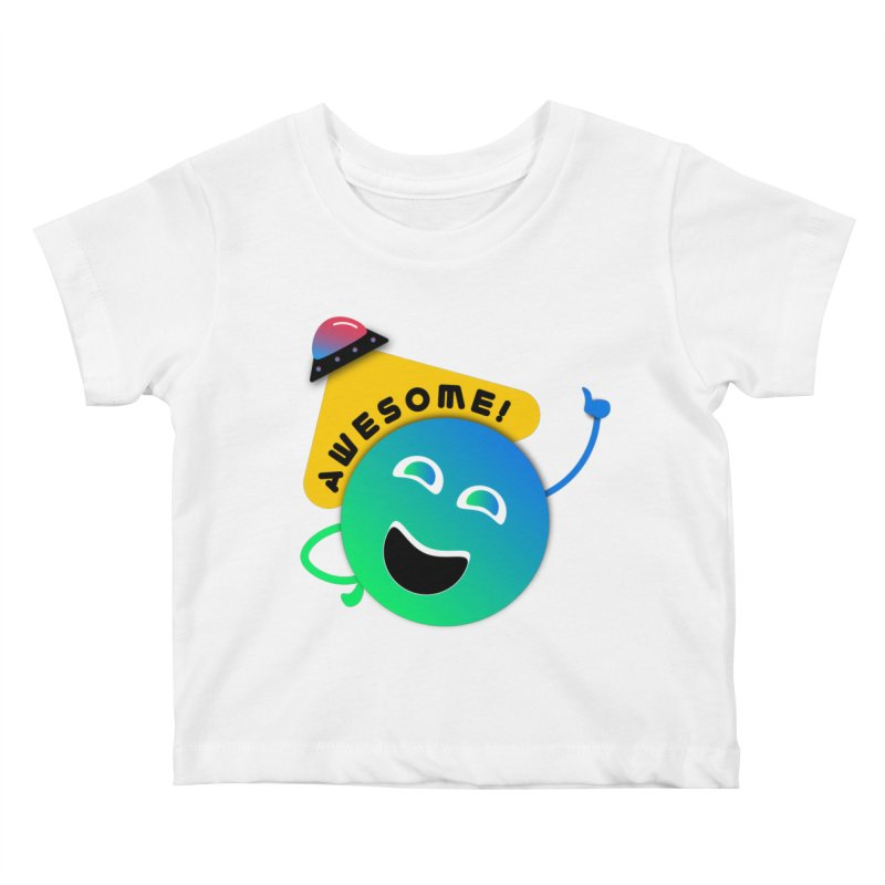 Awesome Planet! Kids Baby T-Shirt by ashleysladeart's Artist Shop