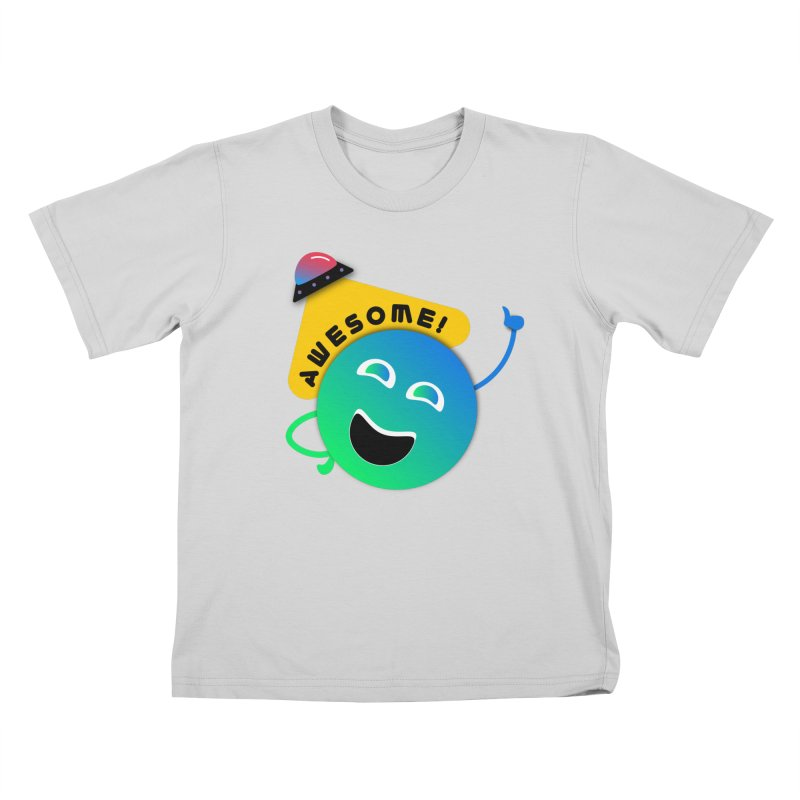 Awesome Planet! Kids T-Shirt by ashleysladeart's Artist Shop