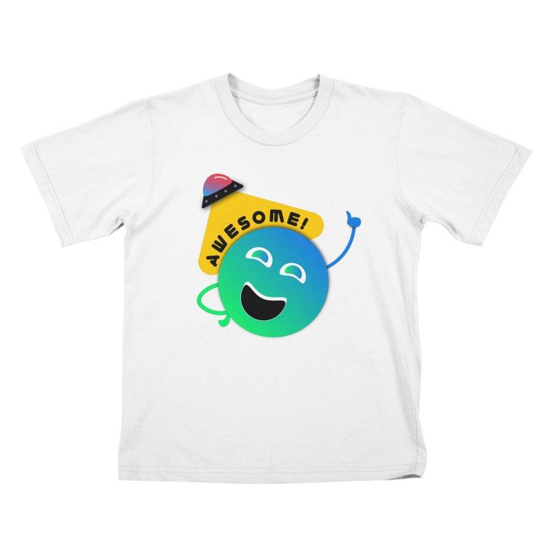 Awesome Planet! Kids T-Shirt by ashleysladeart's Artist Shop