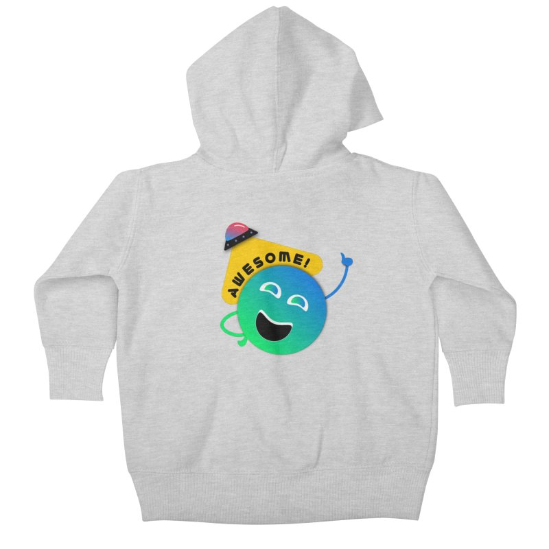 Awesome Planet! Kids Baby Zip-Up Hoody by ashleysladeart's Artist Shop