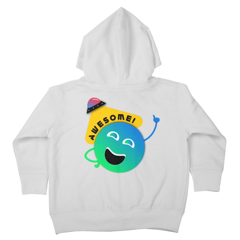 Awesome Planet! Kids Toddler Zip-Up Hoody by ashleysladeart's Artist Shop