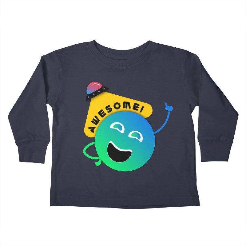 Awesome Planet! Kids Toddler Longsleeve T-Shirt by ashleysladeart's Artist Shop