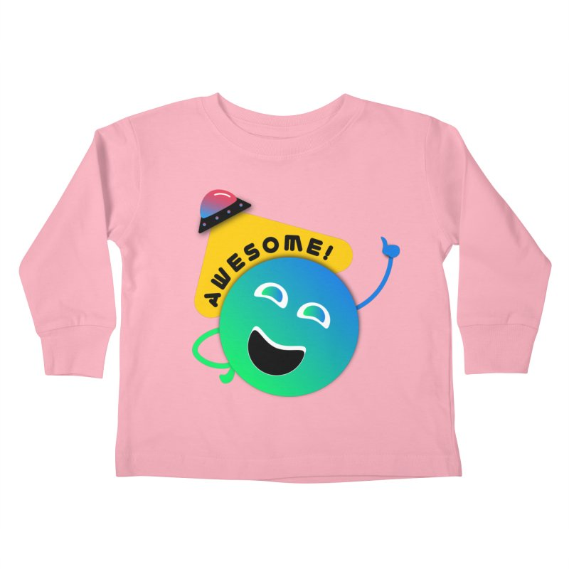 Awesome Planet! Kids Toddler Longsleeve T-Shirt by ashleysladeart's Artist Shop