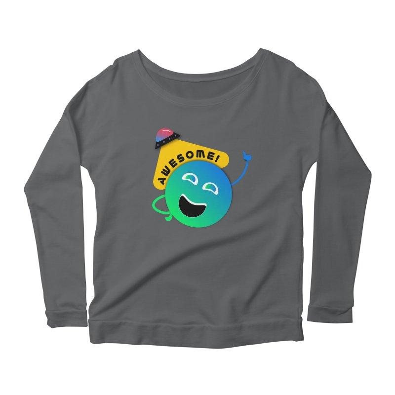 Awesome Planet! Women's Scoop Neck Longsleeve T-Shirt by ashleysladeart's Artist Shop