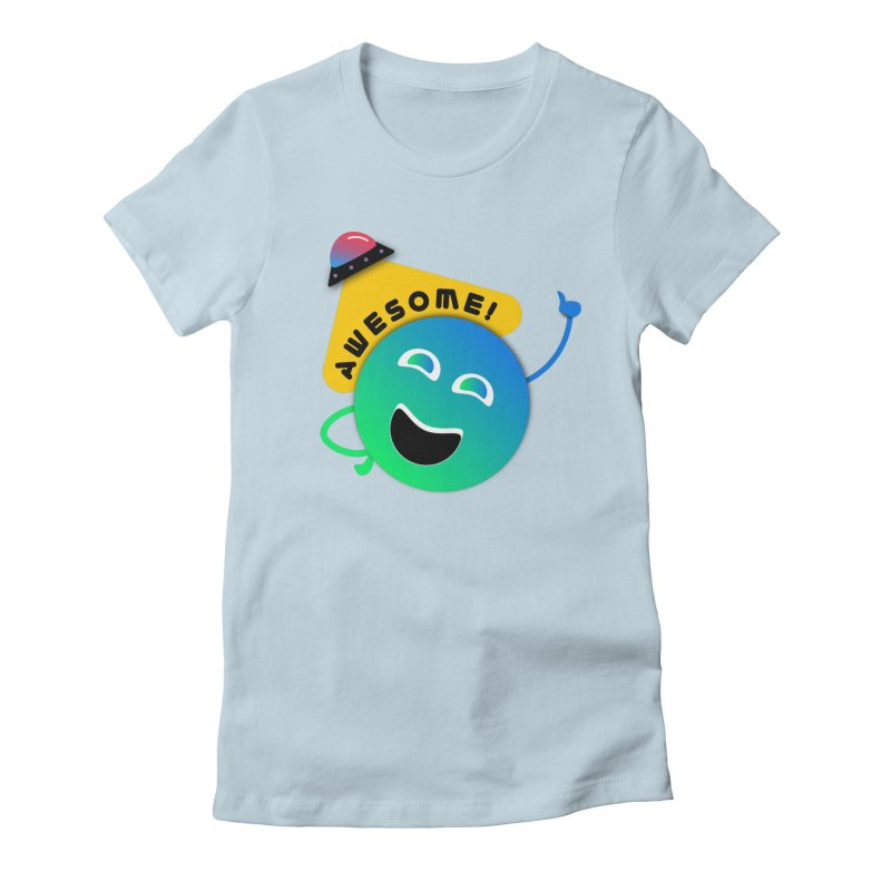 Awesome Planet! Women's Fitted T-Shirt by ashleysladeart's Artist Shop