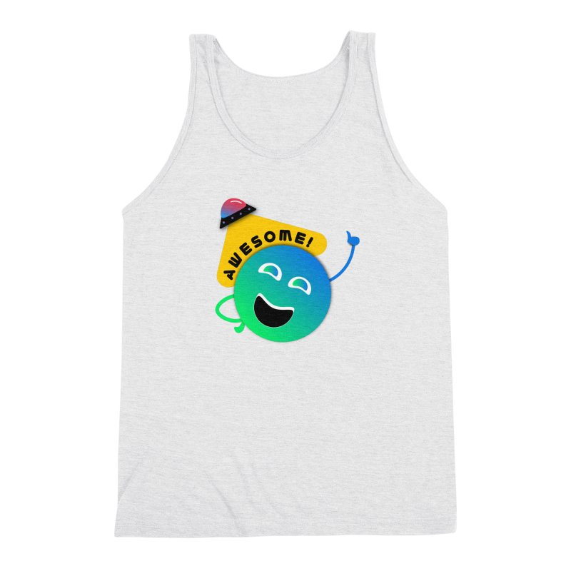 Awesome Planet! Men's Triblend Tank by ashleysladeart's Artist Shop