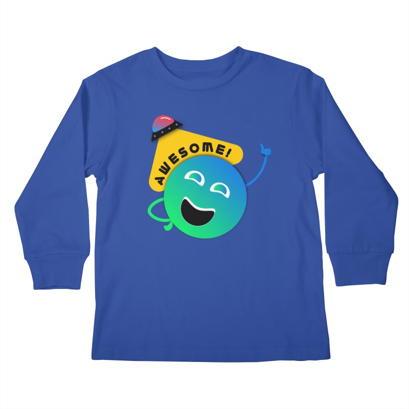 Awesome Planet! Kids Longsleeve T-Shirt by ashleysladeart's Artist Shop