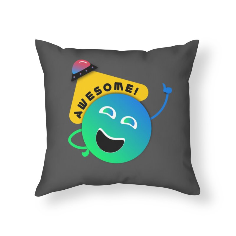Awesome Planet! Home Throw Pillow by ashleysladeart's Artist Shop