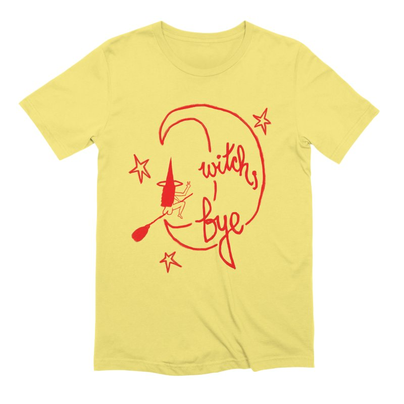 Witch, Bye (red) Men's T-Shirt by Ashley Topacio's Artist Shop