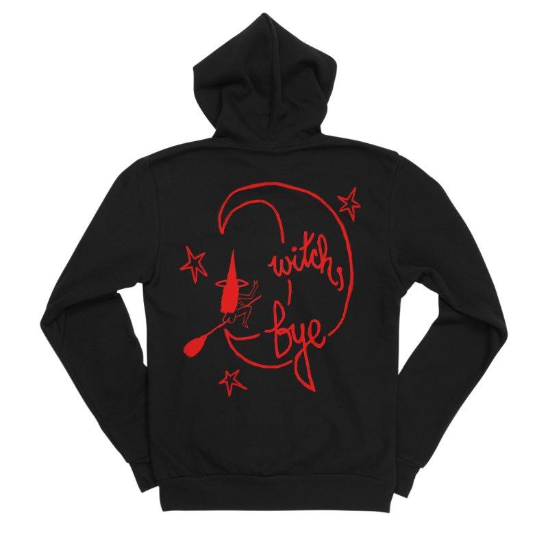 Witch, Bye (red) Women's Sponge Fleece Zip-Up Hoody by Ashley Topacio's Artist Shop