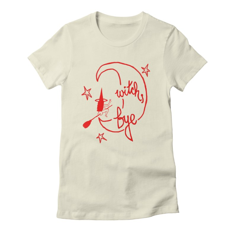 Witch, Bye (red) Women's Fitted T-Shirt by Ashley Topacio's Artist Shop