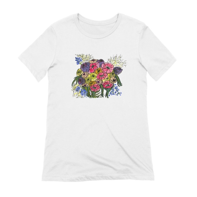 Sorry This Is Happening To You Bouquet Women's Extra Soft T-Shirt by Ashley Topacio's Artist Shop
